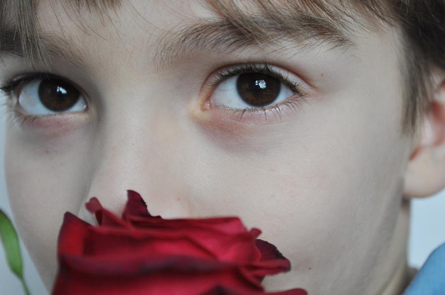 Картинки мальчик с розой
