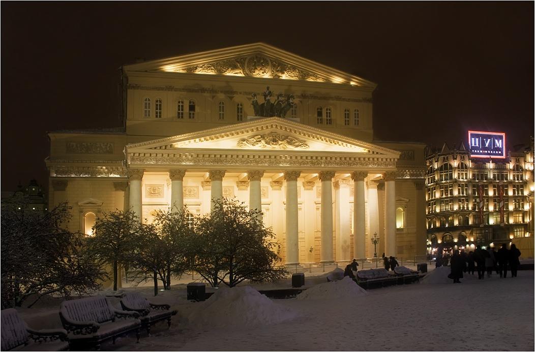 Большой театр зимой фото