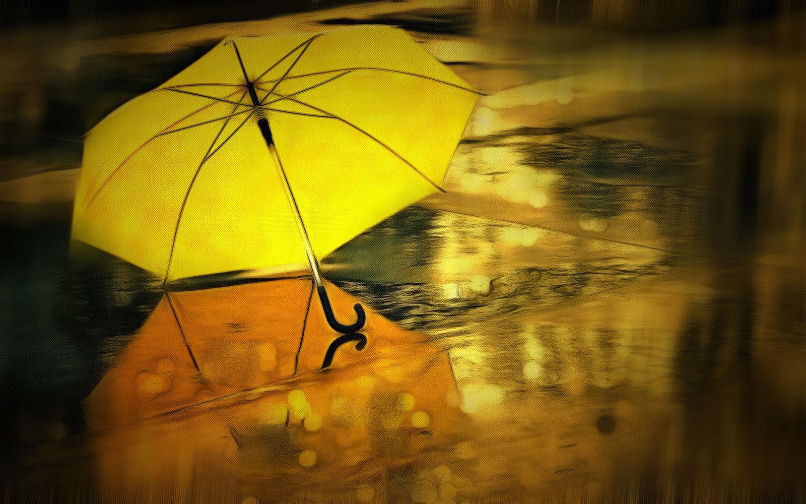 женской фото с желтым зонтом хорошо смотрятся узкими