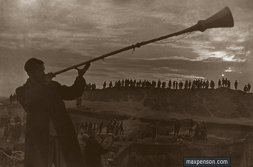 ©Макс Пенсон  (1893-1959). «На строительстве канала, 1942 год»