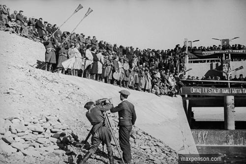©Макс Пенсон  (1893-1959). «Торжественное открытие Фархадской ГЭС»