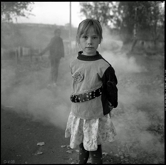 ©Олег Виденин. «Лиственный дым. Брянская область. 2005 год»