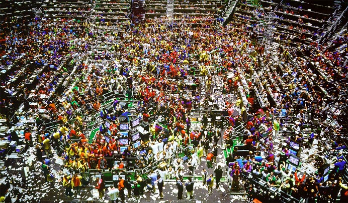 ©  	 Andreas Gursky. Chicago Board of Trade II, 1999