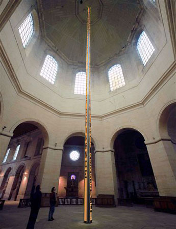 Installation for Chapelle Saint-Louis de&nbsp;la&nbsp;Salpetriere, 2001<br />