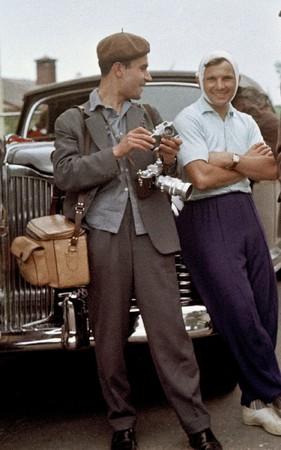 Юрий Абрамочкин и Юрий Гагарин. 1962.