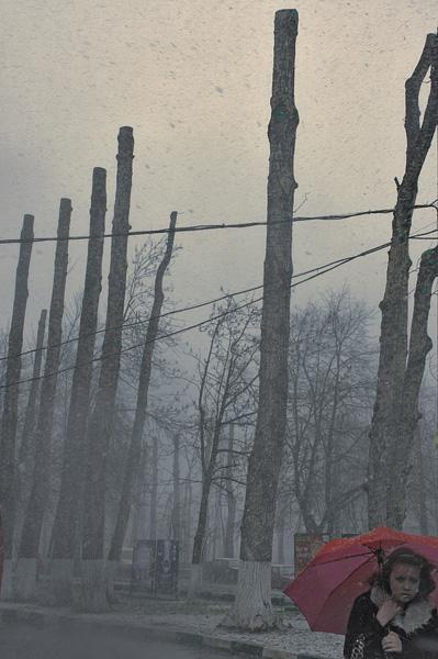 ©Людмила Зинченко. «Снегопад на Электрозаводской. Москва, 2007»