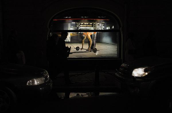 ©Людмила Зинченко. «Ночная Москва. Витрина ГУМа, апрель 2007»