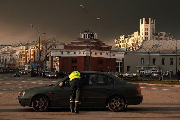 ©Людмила Зинченко. «Арбатская площадь,  Москва, апрель 2007»