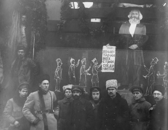 Агитационный поезд 29 стрелковой дивизии. Ноябрь 1918 (ГАСО)