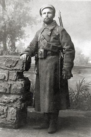 Ф. Шейнис, зам. командира первого образцового батальона Уралобкома партии. 1918