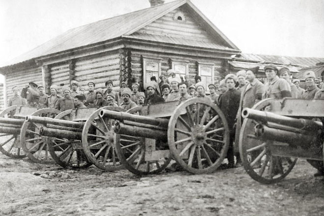 Артиллерия полка Красных орлов. 1919