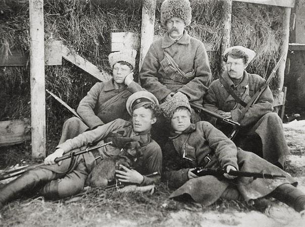 Семья Анчуговых, добровольцы красной армии. 1919