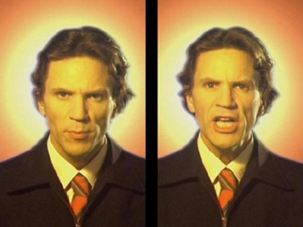 Бьорн Мельхус<br /> Weeping (тираж: 8 + 2) 2001<br /> видеоинсталляция, DVD, 2 обрамленных холста, 7 мин., loop