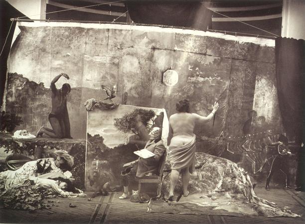 © Joel-Peter Witkin<br /> Studio of the Painter (Courbet), Paris, 1990