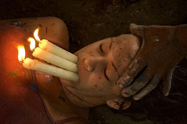 <b>Cristina Garcia Rodero</b>. Last tres llamas, 2005 (Three Flames, 2005)<br /> @ Cristina Garcia Rodero / Magnum Photos