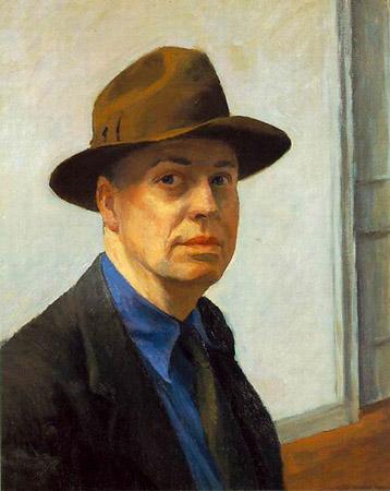 Эдвард Хоппер, автопортрет, 1930