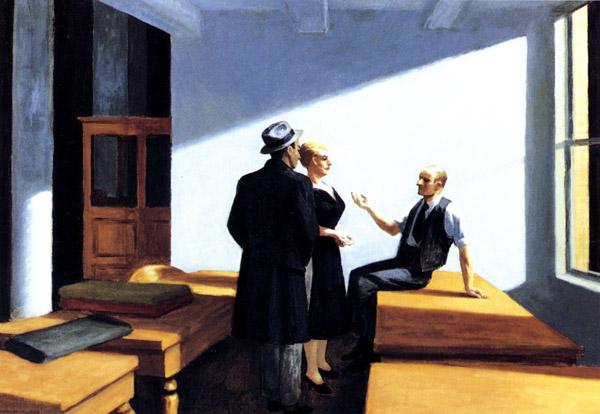 Эдвард Хоппер «Ночное собрание», 1949