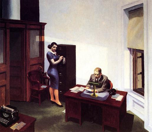Эдвард Хоппер «Офис ночью», 1940