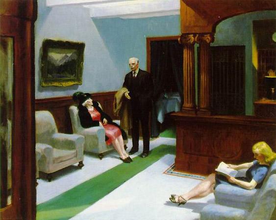 Эдвард Хоппер «Вестибюль отеля», 1943