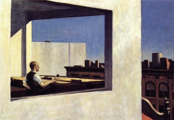 Эдвард Хоппер «Офис в маленьком городе», 1953