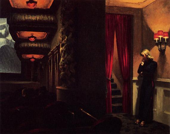 Эдвард Хоппер «Кинотеатр в Нью Йорке», 1939
