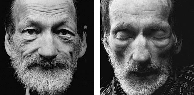 <p><b>Уолтер Шелс</b></p> <p><b>Вольфганг Котцен</b> <br /> возраст: 57<br /> родился 19января 1947<br /> первый портрет сделан 15января 2004<br /> умер 4февраля 2004</p> <p>Ночной столик украшают разноцветные тюльпаны. Сестра приготовила поднос сшампанским итортом. Сегодня уВольфганга Котцена день рождения. «Мне исполняется 57.Яникогда недумал отом, что состарюсь или жечто яумру молодым. Носмерть может прийти когда угодно».<br /> Шесть месяцев назад бухгалтер, ведущий отшельнический образ жизни, был потрясен поставленным ему диагнозом: неоперабельная бронхиальная карцинома. «Для меня эта новость была настоящим шоком. Яникогда ееразмышлял осмерти, явсегда думал только ожизни», делится господин Котцен. «Ияудивлен, что ясмирился сней относительно легко. Теперь ялежу здесь иготовлюсь умереть. Ноянаслаждаюсь каждым днем, который уменя есть, чувствуя всю полноту жизни. Яникогда раньше необращал внимания наоблака. Сейчас жеявижу все всовершенно другом свете: каждое облако заокном, каждый цветок ввазе настоле. Вдруг все наполнилось смыслом».</p>