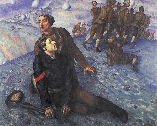 Петров-Водкин. Смерть комиссара. 1928