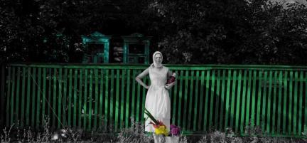 """""""Пикник на обочине"""". ч/б фото, цветная ретушь. 100x270. 2004-2005"""