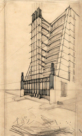 "Антонио Сант Элиа. ""Дом с внешними лифтами"""