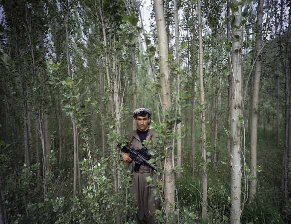 1st prize People in the News Stories<br /> <b>Philippe Dudouit</b>, Switzerland, for Time magazine<br /> <i>PKK fighters, Southern Kurdistan/Northern Iraq</i>