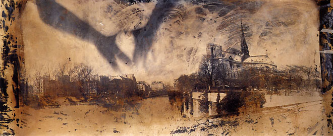 Ilan Wolff, Notre-Dam, фотограмма, выполненная пинхолом, 370х127 см