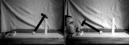 Виктор Скерсис «Машина «Понимание»», 1978 <br /> фото: Ю.Альберт, 22 года<br /> Коллекция Ю.Альберта