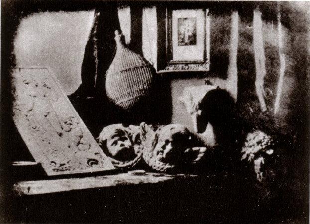 Луи Жак Манде Дагер (Louis Jacques Mandé Daguerre). «Мастерская художника». Дагерротип, 1837