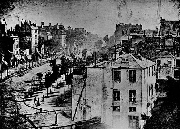 Луи Жак Манде Дагер (Louis Jacques Mandé Daguerre). Парижский бульвар. Дагеротип, 1839