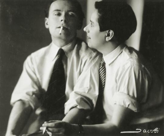 Klaus and Erika Mann— Lotte Jacobi, c<nobr>.1928—30</nobr>. Gelatin silver print. Dietmar Siegert Collection.