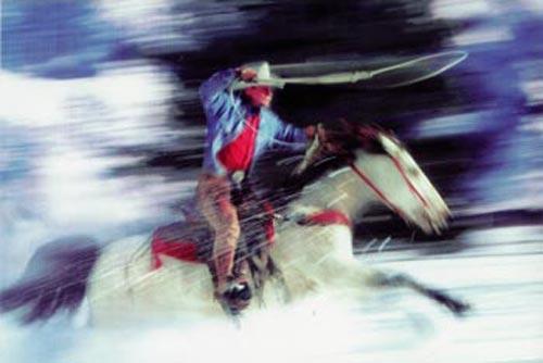 Untitled (cowboy) 2001<br /> Ektacolor photograph<br /> 50×75inches