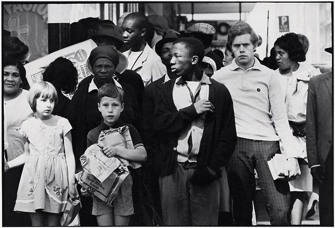 David Goldblatt 1930<br /> Born and works South Africa<br /> From On&nbsp;Eloff Street Johannesburg, South Africa<br /> Two photographs 1966-7, printed 2008<br /> &copy; Courtesy Goodman Gallery Johannesburg and the artist