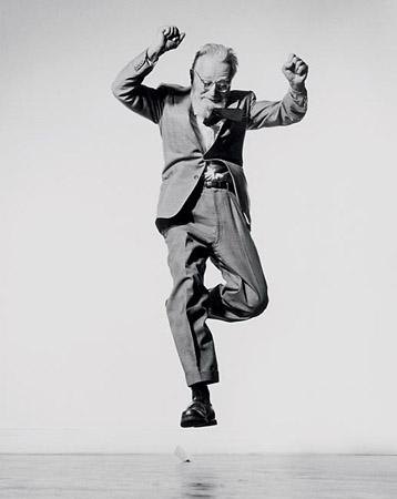 Philippe Halsman 1906-1979<br /> Born Latvia, worked France, USA<br /> From Jump&nbsp;&#8212; Edward Steichen<br /> Edward Steichen 1959<br /> Gelatin silver print<br /> &copy; Philippe Halsman&nbsp;&#8212; Magnum Photos