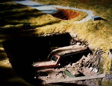 """Патрик Нагатани. Форд """"Вуди"""" у входа в пещеру Ласко, Дордонь, Франция. 1994"""