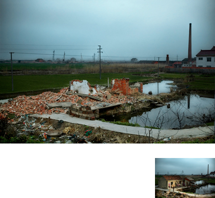 Stephen Wilkes. Before and After: Destruction, Jiangxin Island, China, 2007