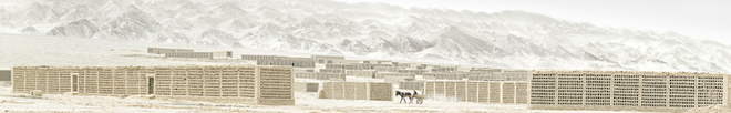 Stephen Wilkes. Grape Sheds, Turpan, China, 2008.