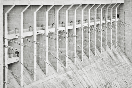 Stephen Wilkes. Backside of Three Gorges Dam, Yangtze River in Sandouping, Yichang, Hubei, China, 2008