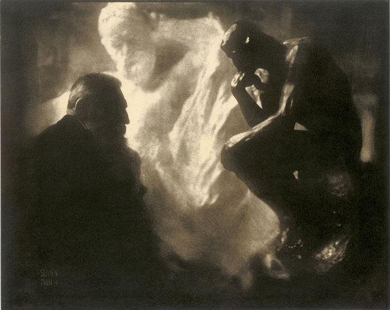 Edward Steichen. Rodin, le Penseu, 1905. Cortesía de Museo Nacional Centro de Arte Reina Sofía, Madrid.  © Joanna T. Steichen
