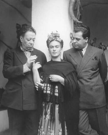 Nickolas Muray, 1892-1965. American (b. Hungary). Frida with Diego and Miguel Covarrubias Tizapán. 1937, Inkjet print