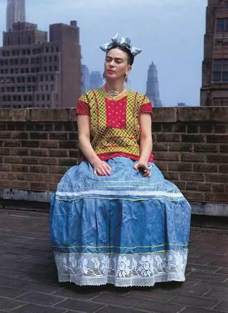 Nickolas Muray, 1892-1965. American (b. Hungary). Frida on Rooftop, New York. 1946, Carbon process print