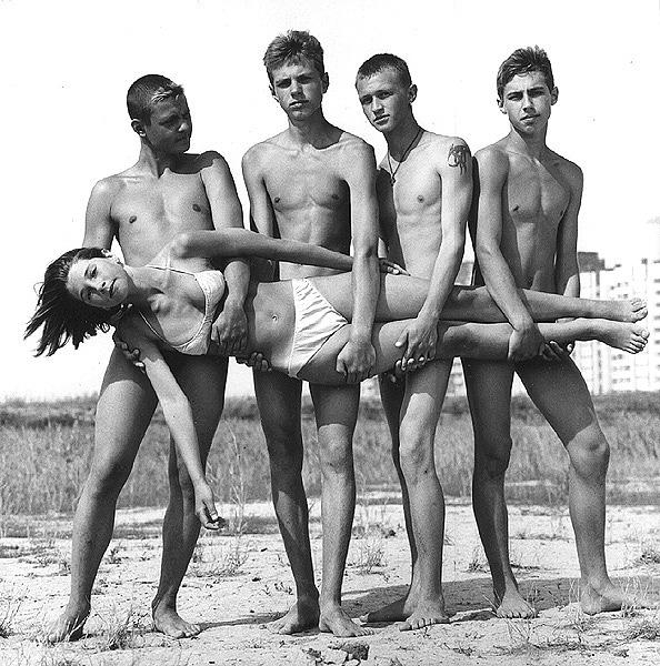 ©Евгений Мохорев. «Подростки с городской окраины»