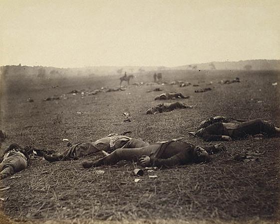Александр Гарднер, Тимоти О`Салливан. &laquo;Урожай смерти.&raquo;<br />Гражданская война, Северная Америка. 1863.