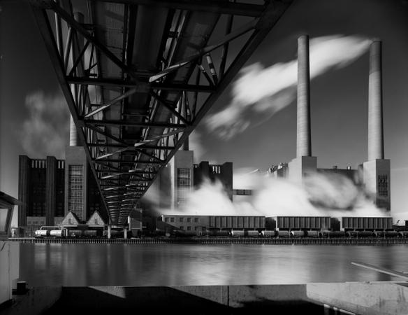 Heinrich Heidersberger. Kraftwerk, Wolfsburg. Schwarzweiß-Fotografie. 4148/5. © Heinrich Heidersberger/artur, www.heidersberger.de