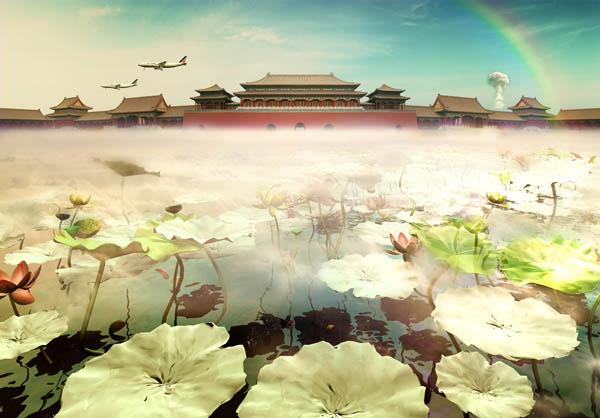 Лю&nbsp;Жэнь (Liu Ren)<br /> &laquo;Сомнамбула. Потерянный город&raquo;, 2007<br /> <nobr>С-принт</nobr>.