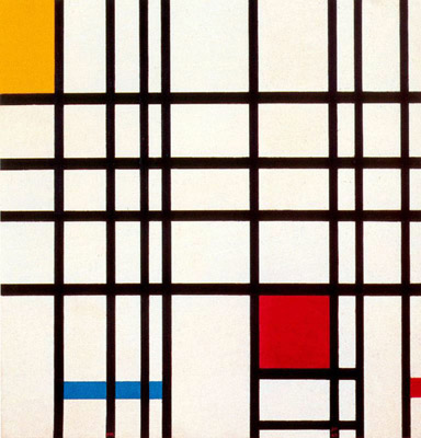 Piet Mondrian «Composition with Black, Red, Yellow and Blue»